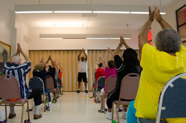An exercise class at one of our senior centers